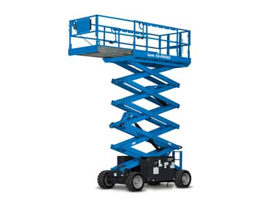Rough Terrain Scissor Lifts for rent in Artesia, Long Beach, Anaheim, San Diego, Palm Springs California